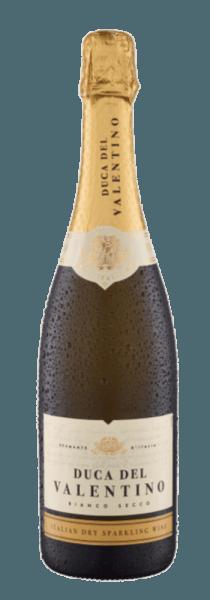 Der Vino Spumante Bianco von Duca del Valentino präsentiert sich im Glas Strohgelb mit grünen Reflexen. Dieser Spumante aus Trebbiano und weiteren italienischen Rebsorten umspielt den Gaumen mit den fruchtigen Noten von Birnen, grünem Apfel und Pfirsich. Ein feinperliger Genuss, welcher die Geschmacksknospen anregt und dem man nicht widerstehen kann. Speiseempfehlung für den Duca del Valentino Vino Spumante Bianco Genießen sie diesen italienischen Spumante als Aperitif, mit Antipasti und frischen Sommersalaten oder beerigen Desserts. Auszeichnungen für den Duca del Valentino Vino Spumante Bianco Berliner Wein Trophy 2017: Gold