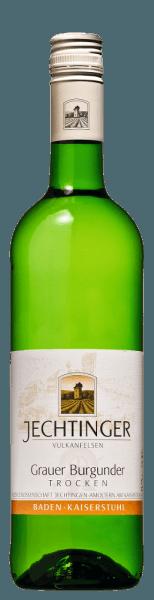 Der Grauburgunder Qualitätswein von Winzergenossenschaft Jechtingenleuchtet in einer gelben Farbe mit grünlichem Schimmer. Ein kühler Duft nach reifen Kernobstfrüchten (Äpfel und Quitten), etwas Butterblume, Lindenblüte und leicht rauchigen Nuancen umspielt die Nase. Der kräftige Geschmack hält eine animierende Kernobstfrucht mit einer Spur Fruchtsüße und einer fruchtigen Weinsäure bereit. Dieser Grauburgunder der Winzergenossenschaft Jechtingen zeigt sich lebendig frisch, komplex und vielschichtig am Gaumen. Er besitzt einen mittleren Körper mit fester Struktur und Rückgrat sowie eine schöne Balance. Ein langer Abgang mit mineralischer Kernobstfrucht im Nachhall rundet ihn ab. Trinken Sie diesen Weißwein aus Baden zu Salat, Geflügel und hellem Braten.