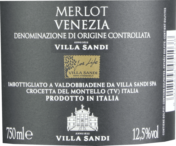 Merlot Venezia DOC 2018 - Villa Sandi von Villa Sandi