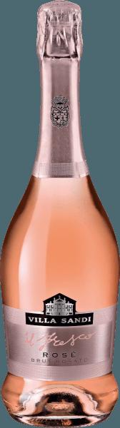 Mit dem Villa Sandi il Fresco Rosato Spumante Brut kommt ein erstklassiger Schaumwein ins Glas. Hierin zeigt er eine wunderbar brillante, platingelbe Farbe. Bei genauerem Hinsehen erkennen wir zudem lebendige Glanzlichter. Der Nase präsentiert dieser Villa Sandi Schaumwein allerlei Jasmine, Parfum-Rose, Maulbeeren, schwarze Johannisbeeren und Brombeeren. Leichtfüßig und vielschichtig präsentiert sich dieser leichte Schaumwein am Gaumen. Durch die moderate Fruchtsäure schmeichelt der il Fresco Rosato Spumante Brut mit samtigem Gaumengefühl, ohne es dabei an Frische missen zu lassen. Das Finale dieses reifungsfähigen Schaumweins aus der Weinbauregion Venetien besticht schließlich mit beachtlichem Nachhall. Vinifikation des il Fresco Rosato Spumante Brut von Villa Sandi Grundlage für den eleganten il Fresco Rosato Spumante Brut aus Venetien sind Trauben aus den Rebsorten Chardonnay, Glera und Spätburgunder. Nach der Weinlese gelangen die Weintrauben zügig in die Kellerei. Hier werden Sie sortiert und behutsam aufgebrochen. Es folgt die Gärung im Edelstahltank bei kontrollierten Temperaturen. Der Vergärung schließt sich eine Reifung für einige Monate auf der Feinhefe an, bevor der Wein schließlich abgefüllt wird. Speiseempfehlung für den il Fresco Rosato Spumante Brut von Villa Sandi Genießen Sie diesen Schaumwein aus Italien idealerweise sehr gut gekühlt bei 5 - 7°C als Begleiter zu Lauch-Tortilla, Kohl-Rouladen oder Kokos-Limetten-Fischcurry. Auszeichnungen für den il Fresco Rosato Spumante Brut von Villa Sandi Dieser Wein aus Venetien überzeugt nicht nur uns, nein auch bekannte Wein-Journalisten verliehen ihm bereits Medaillen. Unter den Bewertungen finden sich Mundus Vini - Silber