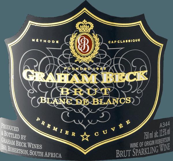 DerCap Classique Blanc de Blancs Brut von Graham Beck ist ein wundervoller Schaumwein aus Südafrika, der aus Chardonnay-Trauben (100%) vinifiziert wird. Das Bouquet verströmt herrlich frische Aromen nach Zitrusfrucht - besonders Zitrone stellt sich in den Vordergrund. Am Gaumen präsentiert sich eine feine Moussierung mit kräftigen Noten nach reifer Mandarine, untermalt von komplexen Aromen nach Brioche und etwas Hefe. Das Finale ist herrlich cremig, elegant und lang anhaltend. Vinifikation des Blanc de Blancs Cap Classique Ausschließlich der Most der ersten Pressung wird für diesen südafrikanischen Schaumwein verwendet. Nach dem Pressen der Trauben werden 50% inPieces Champenoises (traditionelle Fässer mit einem Volumen von 225 Liter) vergoren. Dadurch werden die kräftigen Aromen des Blanc de Blancs wunderbar betont. Nach der Gärung kommen die Chardonnay-Partien wieder zusammen und verbringen eine zweite Gärung auf der Flasche - für mindestens 36 Monate auf der Hefe. Speiseempfehlung für den Graham Beck Blanc de Blancs Genießen Sie diesen Schaumwein aus Südafrika zu Meeresfrüchten, Schalentieren und Fisch - besonders zu Hummer, Langusten, Carpaccio vom Fisch oder Seezunge. Aber auch zu Desserts, wie Soufflé, Crêpe, Kuchen und Tartes ist dieser Schaumwein ein wahrer Genuss. Auszeichnungen für den Blanc de Blanc Cap Classique von Graham Beck Robert M. Parker: 91 Punkte für 2010